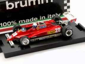 Didier Pironi Ferrari 126C2 Turbo #28 GP San Marino Formel 1 1982 1:43 Brumm