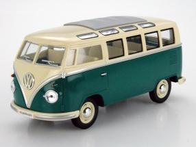 Volkswagen VW Samba Bus Year 1962 green / white 1:24 Kinsmart