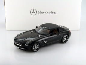 Mercedes-Benz SLS AMG Roadster obsidian black metallic 1:18 Norev MB
