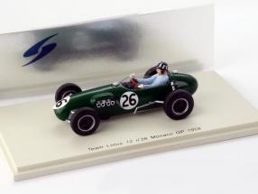 G. Hill Lotus 12 #26 Monaco GP Formel 1 1958 1:43 Spark