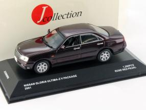 Nissan Gloria Ultima-Z V Package year 2001 red-brown metallic 1:43 JCollection