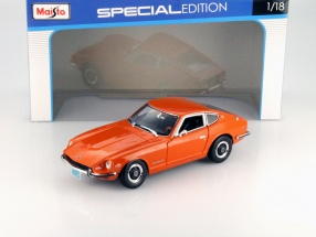 Datsun 240Z Baujahr 1971 orange 1:18 Maisto