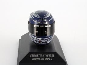 S. Vettel Red Bull GP Monaco Formel 1 Weltmeister 2010 Helm 1:8 Minichamps