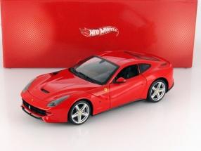 Ferrari F12 Berlinetta Year 2012 red 1:18 HotWheels Heritage
