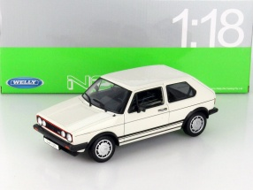 Volkswagen VW Golf I GTI weiß 1:18 Welly