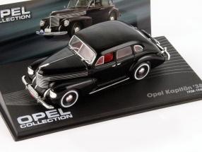 Opel Kapitän 38 Baujahr 1938-1940 schwarz 1:43 Ixo Altaya