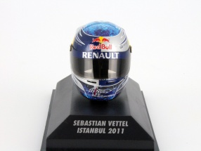 S. Vettel Red Bull GP Istanbul Formel 1 Weltmeister 2011 Helm 1:8 Minichamps