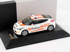 Hyundai Veloster Year 2012 Police Switzerland 1:43 Premium X