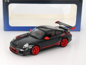 Porsche 911 (997) GT3 RS 3.8 Baujahr 2010 dunkelgrau / rot 1:18 AUTOart