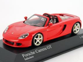 Porsche Carrera GT Year 2003 guards red 1:43 Minichamps