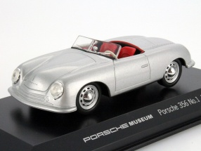 Porsche 356 No.1 year 1948 silver with hole rims 1:43 Welly