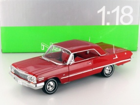 Chevrolet Impala Hard Top Year 1963 red 1:18 Welly
