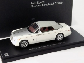 Rolls Royce Phantom Drophead Coupe Year 2012 English white 1:43 Kyosho