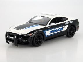 Ford Mustang GT Police Car Baujahr 2015 schwarz / weiß 1:18 Maisto