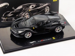 Ferrari LaFerrari Baujahr 2013 schwarz 1:43 HotWheels Elite