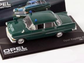 Opel Kapitän PII Polizei Baujahr 1959-1964 dunkel grün 1:43 Ixo Altaya