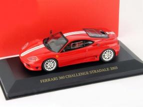 Ferrari 360 Challenge Stradale Year 2003 red / white 1:43 Ixo