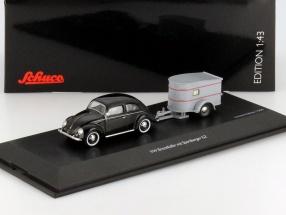 VW Brezelkäfer mit Sportberger G2 schwarz 1:43 Schuco