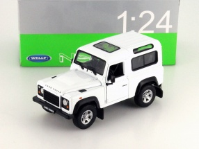 Land Rover Defender white 1:24 Welly