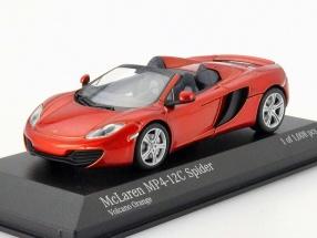 McLaren MP4-12C Spider Baujahr 2012 vulkan orange metallic 1:43 Minichamps