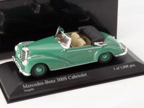 Mercedes-Benz 300 S Cabriolet Baujahr 1954 grün 1:43 Minichamps