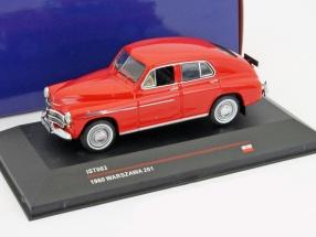 Warszawa 201 year 1960 red 1:43 Ixo IST-Models