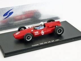R. Penske Cooper T53 #6 US GP Formel 1 1961 1:43 Spark