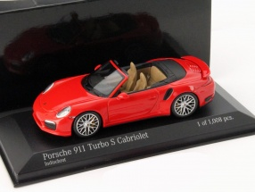 Porsche 911 Turbo S Cabriolet Year 2013 red 1:43 Minichamps