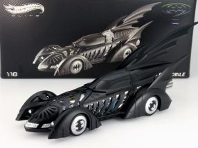 Batmobile Batman Forever Movie 1995 mattschwarz 1:18 HotWheels Elite