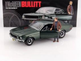 Ford Mustang GT Movie Car Bullitt Steve McQueen green 1:18 Greenlight