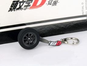 Toyota Sprinter Trueno (AE86) 8 Speichenrad Schlüsselanhänger schwarz 1:18 AUTOart