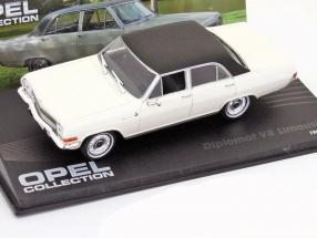 Opel Diplomat V8 Limousine Baujahr 1964 weiß mit schwarzem Dach 1:43 Ixo Altaya