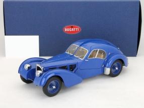 Bugatti 57S Atlantic Bj. 1938 blau mit Speichenrädern 1:18 AutoArt