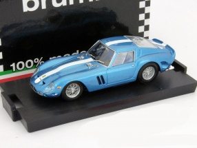 Ferrari 250 GTO Baujahr 1962 blau metallic mit weißem Streifen 1:43 Brumm