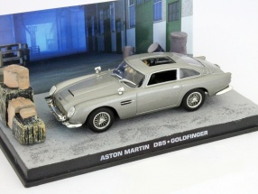 Aston Martin DB5 James Bond movie Goldfinger Car Grey 1:43 Ixo