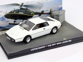 Lotus Esprit James Bond Movie Car The Spy Who Loved Me white 1:43 Ixo