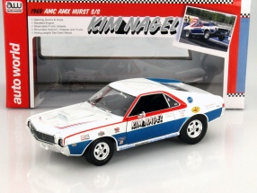 AMC AMX Hurst S/S year 1969 Kim Nagel white / blue / red 1:18 autoworld