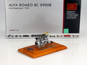 Alfa Romeo 8C 2900 B Year of construction 1938 Motor with Showcase 1:18 CMC