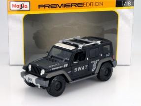 Jeep Rescue Concept SWAT Police matte black 1:18 Maisto
