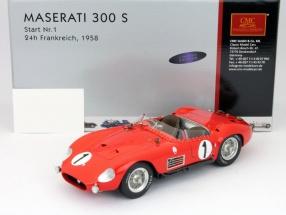 Maserati 300 S #1 Sales, Bonnier 24h LeMans 1958 1:18 CMC