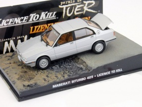 Maserati Biturbo 425 James Bond Movie Car license to kill silver 1:43 Ixo