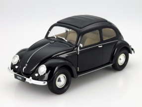 Volkswagen VW Classic Beetle year 1950 black 1:18 Welly
