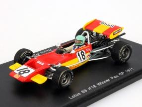 Reine Wisell Lotus 69 #18 Winner Pau GP Formula 2 1971 1:43 Spark