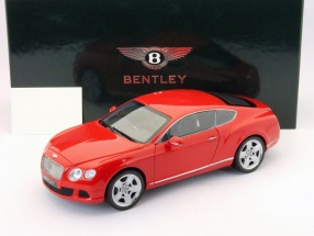 Bentley Continental GT year 2011 red 1:18 Minichamps
