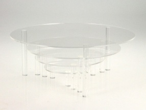 4er-Set Präsentations-Teller aus Acryl-Glas SAFE