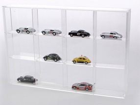 Small Showcase from Acrylic glass 12 shelf 300 x 200 x 30 mm SAFE