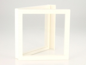Floating Boxes white 100 x 100 mm SAFE