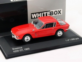Brasinca 4200 GT Baujahr 1965 rot 1:43 WhiteBox
