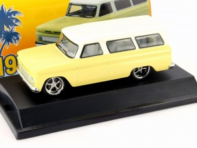 Chevrolet Suburban Baujahr 1966 gelb / weiß 1:43 Greenlight