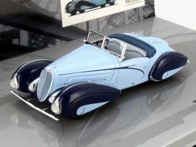 Delahaye Type 135-M Cabriolet Baujahr 1937 hellblau / dunkelblau 1:43 Minichamps